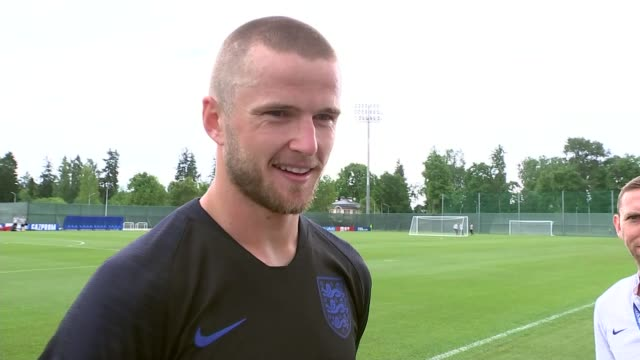 England player interviews and first training session in Repino RUSSIA St Petersburg Repino EXT Eric Dier interview SOT