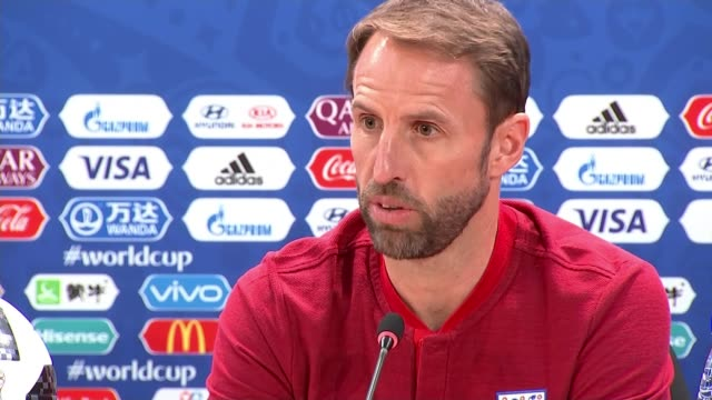 england prepare to play tunisia russia volgograd england training session gareth southgate and harry kane press conference soviet war memorial 'the... - harry kane soccer player stock videos & royalty-free footage