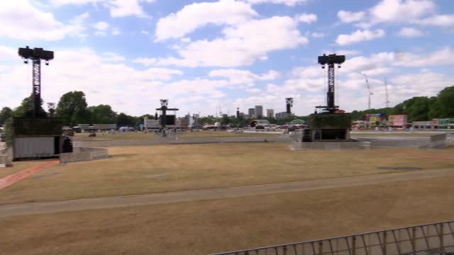 russia 2018 world cup: england prepares for semi-final against croatia; england: london: hyde park: ext various shots field with large space and... - semifinal round stock videos & royalty-free footage