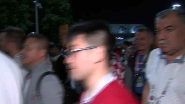 fans away from luzhniki stadium after england v croatia semifinal russia moscow vox pops with england supporters leaving the luzhniki stadium at the... - luzhniki stadium stock videos & royalty-free footage