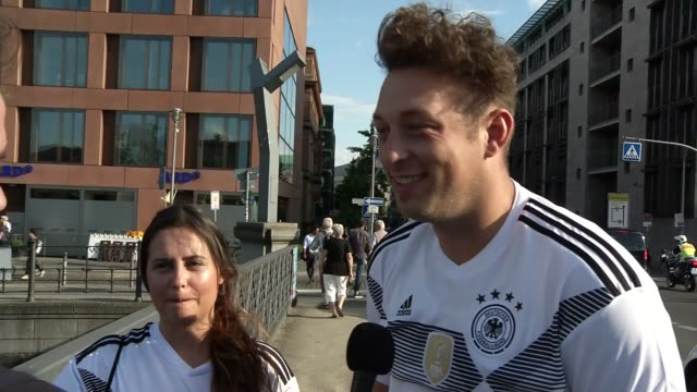 germany eliminated / other matches germany berlin ext vox pops football fans - elimination round stock videos and b-roll footage