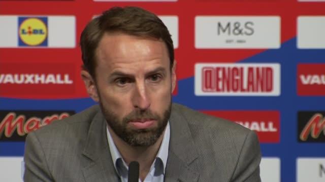 Gareth Southgate press conference ENGLAND London Wembley Wembley Stadium INT Gareth Southgate press conference SOT