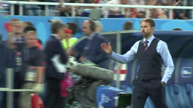 Jesse Lingard says England won't change their style for knockout matches Kaliningrad Kaliningrad Stadium Gareth Southgate along touchline