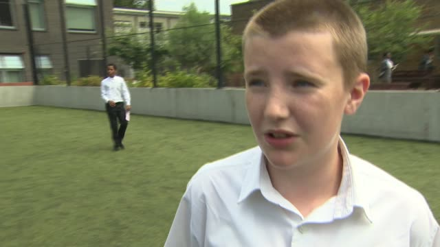 reaction to England's semifinal loss to Croatia ENGLAND London Camberwell EXT Various of school children playing football Vox pops children Various...