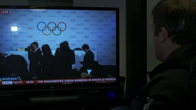 Russia banned from 2018 Winter Olympic games in South Korea TV showing BBC News