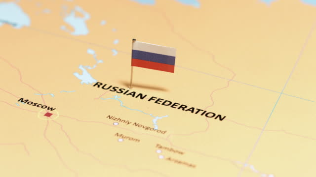 russia federation with national flag - russian flag stock videos & royalty-free footage