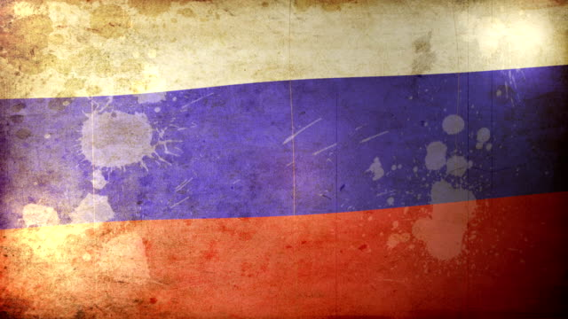 russia flag - grunge. hd - russian flag stock videos & royalty-free footage