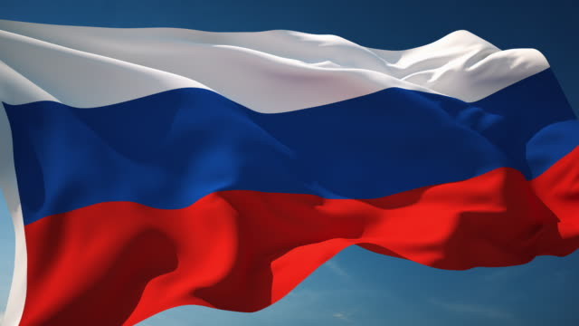 4k russia flag - loopable - flag stock videos & royalty-free footage