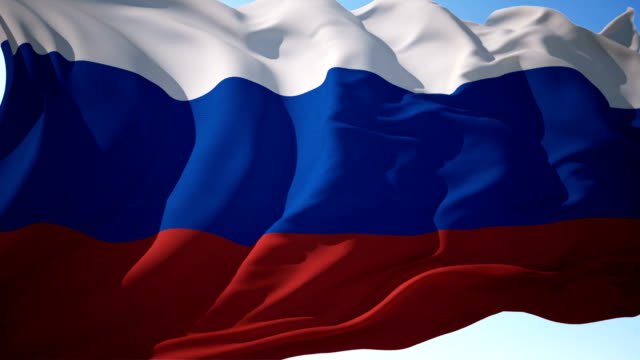 russia flag or russian flag - former ussr flag stock videos & royalty-free footage