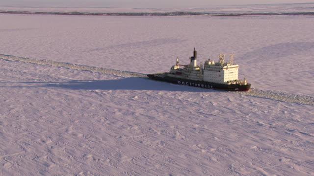 russia : icebreaker on the ienissei river - russia stock videos and b-roll footage