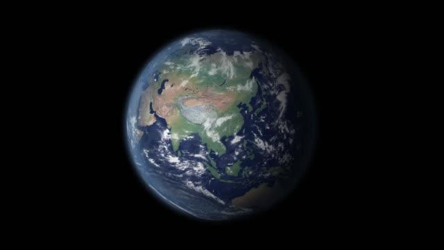 vidéos et rushes de la russie en bref zoom sur globe - fédération de russie
