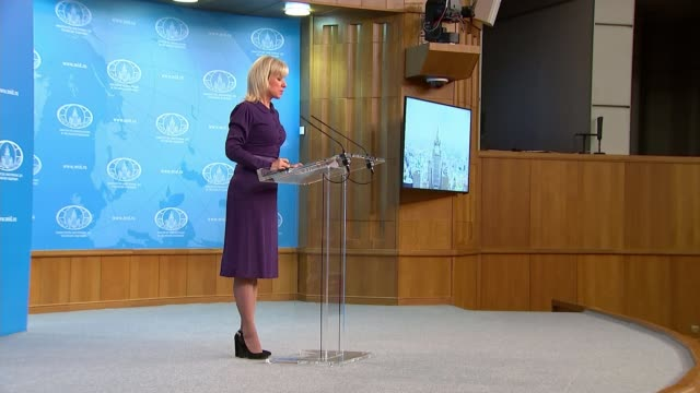 vidéos et rushes de russia in no hurry to improve relations with the uk after novichok attack; russia: moscow: ext various of foreign ministry building foreign ministry:... - moscow russia