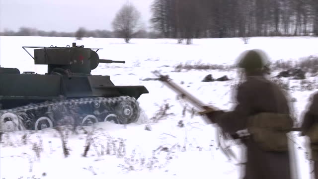 russia is attempting to rewrite history as a new blockbuster appears in screens. the film tells the story of a heroic battle during world war two,... - war stock-videos und b-roll-filmmaterial