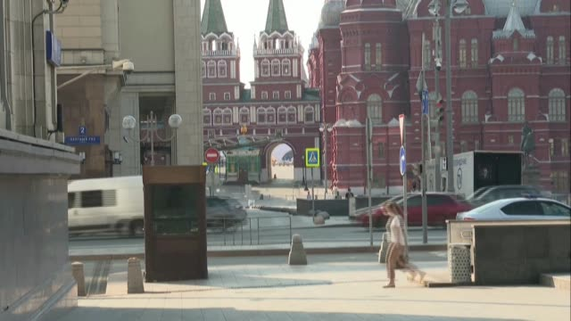 russia lifts a range of anti-coronavirus measures including a strict lockdown on the capital of moscow, allowing residents to travel freely for the... - moscow russia stock videos & royalty-free footage