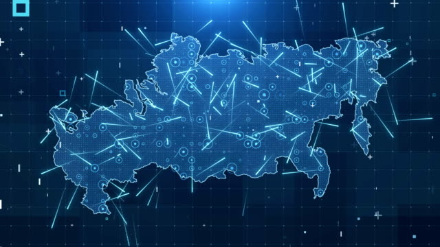 russia map connections full details background 4k - russia stock videos & royalty-free footage
