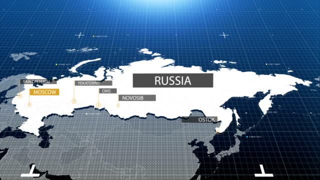 russia map with label then with out label - zoom out stock videos & royalty-free footage