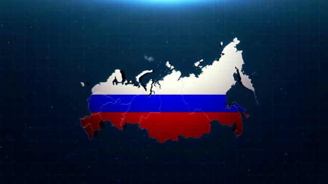 4k russia map with national flag - russian flag stock videos & royalty-free footage
