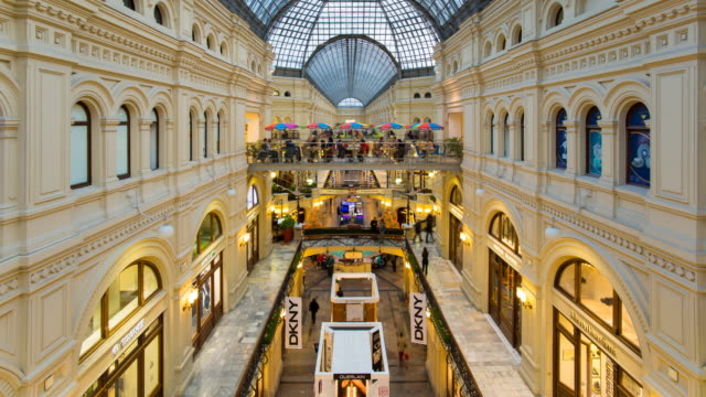Russia, Moscow, Red Square, Gum Department Store, Interior