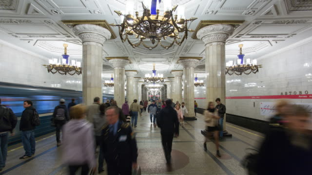 Russia, Saint Petersburg, Metro system