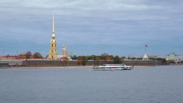 Russia, Saint Petersburg, Peter and Paul Fortress on Neva riverside, classified as World Heritage by UNESCO