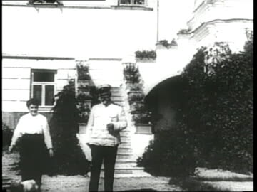 russian aristocrats relax on the grounds of their home. - royalty stock videos & royalty-free footage