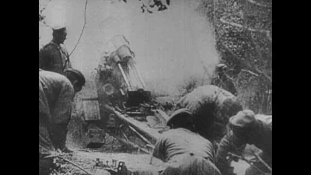 russian army marching/ tsar nicolas ii/ field guns firing - ww1 battle stock videos & royalty-free footage