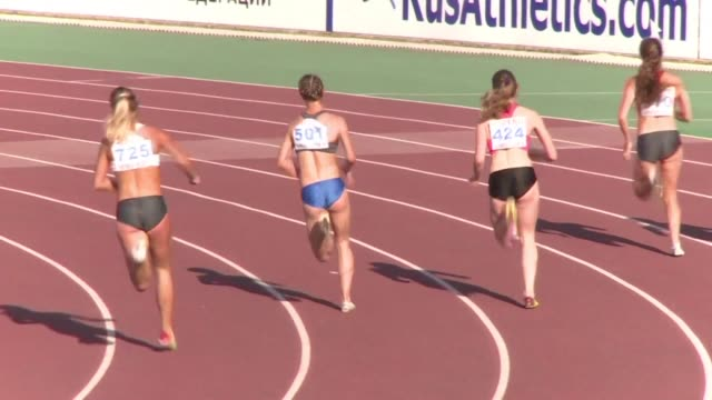 vídeos de stock, filmes e b-roll de russian athletes training outside the country including long jumper darya klishina who trains in the us are waiting for a decision by the world... - rio russian