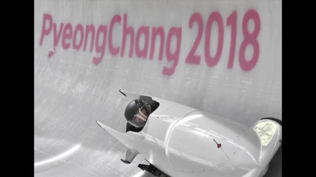 russian bobsledder nadezhda sergeyeva is banned from the pyeongchang winter olympics after failing a doping test the court of arbitration for sport... - bobsleighing stock videos & royalty-free footage