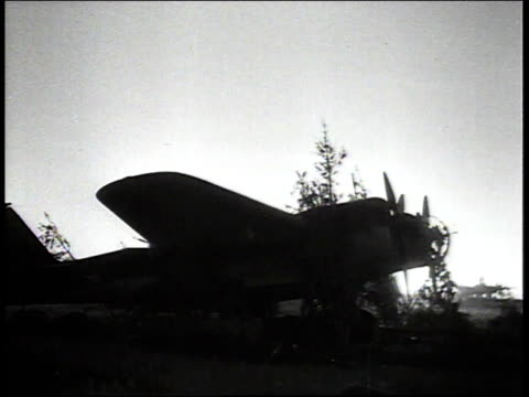 russian bomber in silhouette at dawn / russia - bomber stock videos & royalty-free footage