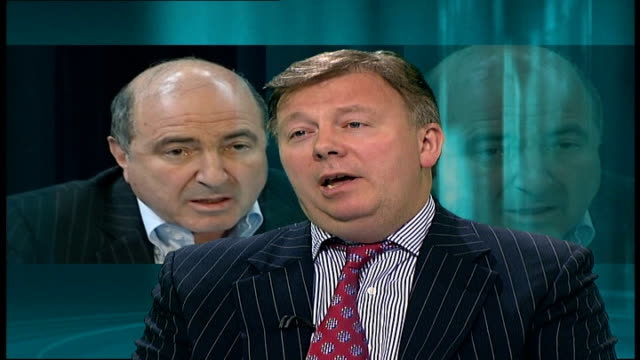 russian british diplomatic relations/ berezovsky 'revolution' comments duncan lamont interview sot - 実業家 ボリス・ベレゾフスキー点の映像素材/bロール