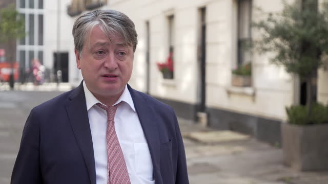 "russian businessman and political donor alexander temerko saying russia is a ""serious threat"" to the uk, especially in cyberspace - report produced segment stock videos & royalty-free footage"