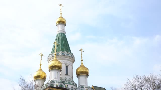 russian church sofia bulgaria - eastern european culture stock videos & royalty-free footage