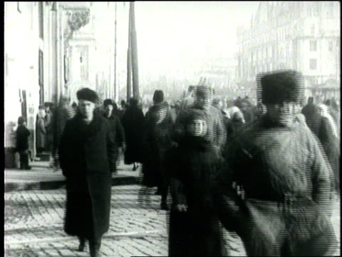 russian civilians crowd the marketplace in moscow russia - 1900 stock videos & royalty-free footage
