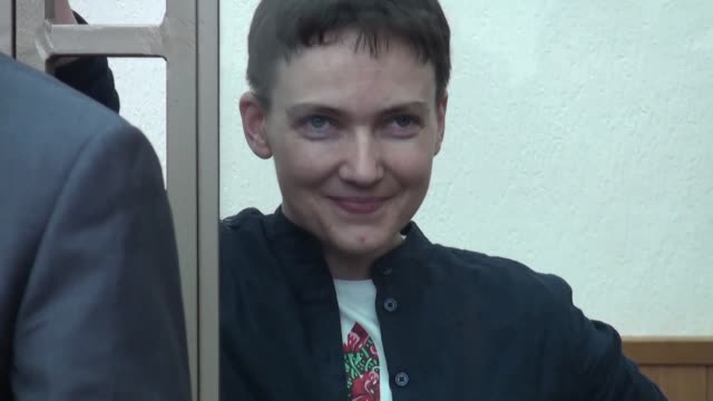 a russian court begins delivering its verdict in the high profile murder trial of ukrainian helicopter pilot nadiya savchenko which kiev and the west... - helicopter pilot stock videos & royalty-free footage