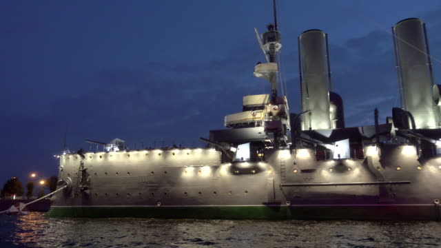 russian cruiser aurora - russian culture stock videos & royalty-free footage
