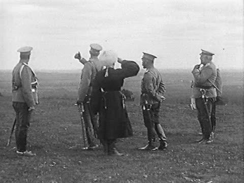 russian emperor nicolas ii inspecting army - army stock videos & royalty-free footage