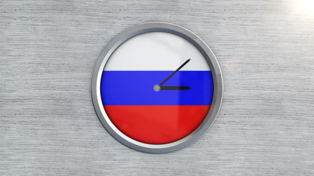 russian flag clock timelapse - sputnik stock videos & royalty-free footage