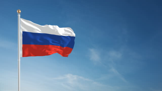 4k russian flag - loopable - russian flag stock videos & royalty-free footage
