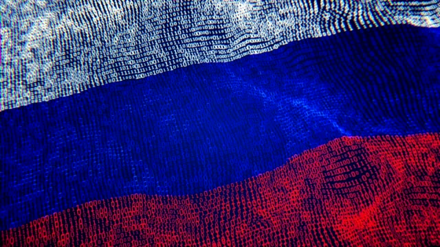 vídeos de stock e filmes b-roll de russian flag particle digital flag loopable 4k - rússia