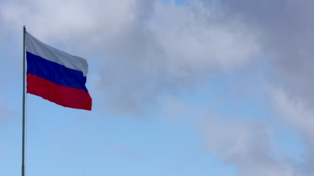 russian flag - russian flag stock videos & royalty-free footage