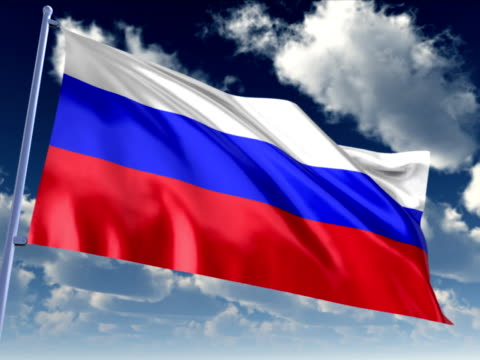 russian flag - russian culture stock videos & royalty-free footage