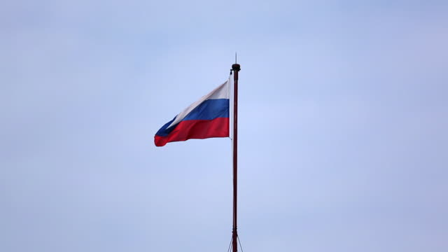 russian flag waving in the wind - russian flag stock videos & royalty-free footage