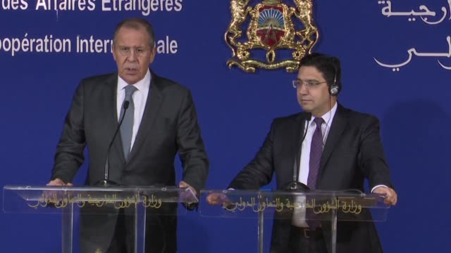 russian foreign minister sergei lavrov denounces the united states destructive policy on venezuela after washington backed the opposition leader over... - governmental occupation stock videos & royalty-free footage