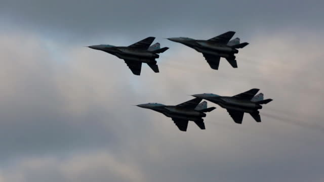 russian military aircrafts - fighter stock videos & royalty-free footage