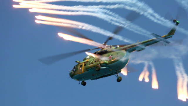 russian military helicopter - russian culture stock videos & royalty-free footage