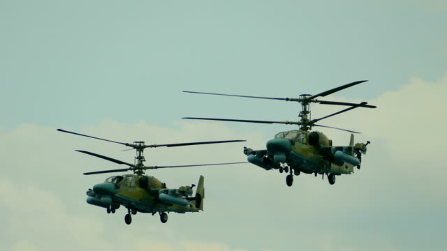 russian military helicopters - military helicopter stock videos & royalty-free footage