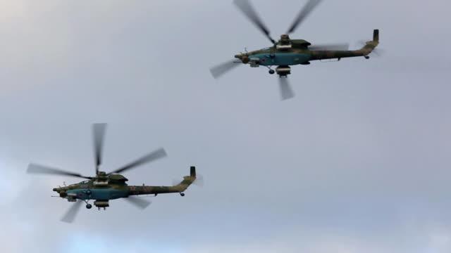 ロシア軍用ヘリコプター - 戦闘機点の映像素材/bロール