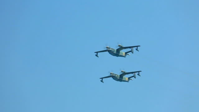 Russian military hydroplanes