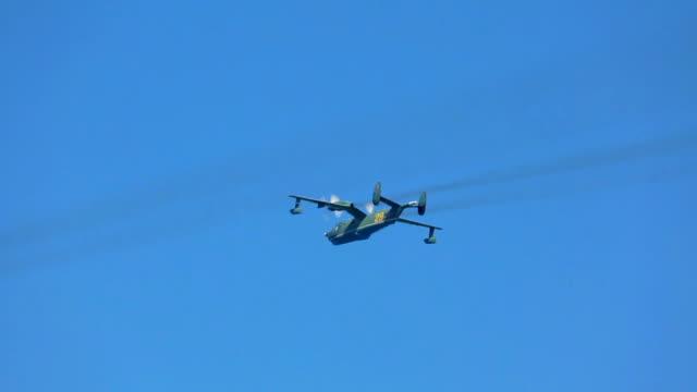 vídeos y material grabado en eventos de stock de militares rusos hydroplanes - hidroplano