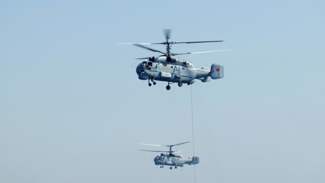 Russian military naval helicopters